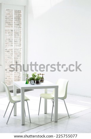 Dinning room table  - stock photo