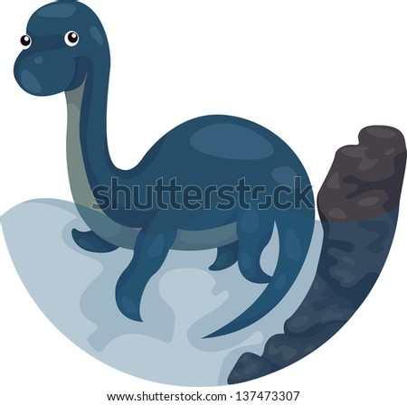 Dino swim - stock photo
