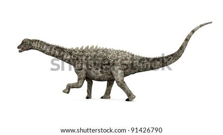 Dinosaur Ampelosaurus Computer generated 3D illustration - stock photo