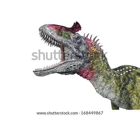Dinosaur Cryolophosaurus Computer generated 3D illustration - stock photo