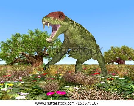 Dinosaur Doliosauriscus Computer generated 3D illustration - stock photo