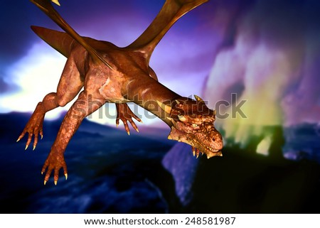 Dinosaur doomsday came about at night - stock photo