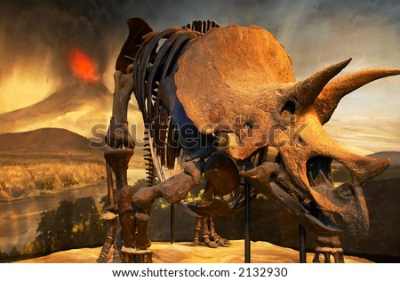 Dinosaur fossil and ancient earth environment. More with keyword group16b