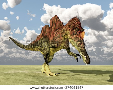 Dinosaur Ichthyovenator Computer generated 3D illustration - stock photo