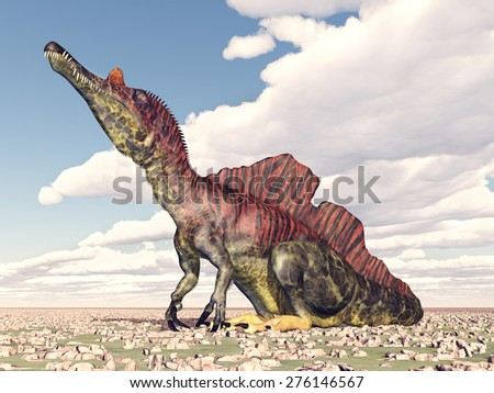 Dinosaur Ichthyovenator Computer generated 3D illustration - stock photo