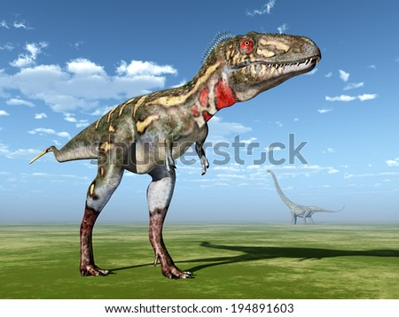 Dinosaur Nanotyrannus Computer generated 3D illustration - stock photo