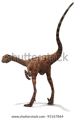 dinosaur Raptor - stock photo