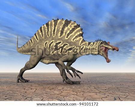 Dinosaur Spinosaurus Computer generated 3D illustration - stock photo