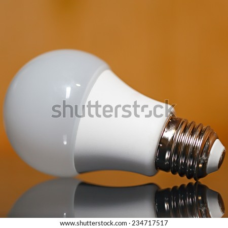 Diode lamp with reflection. - stock photo