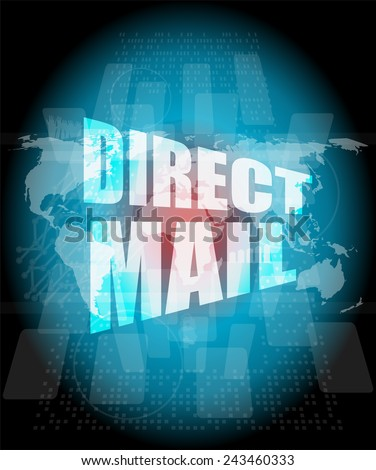 direct mail word on digital touch screen - stock photo