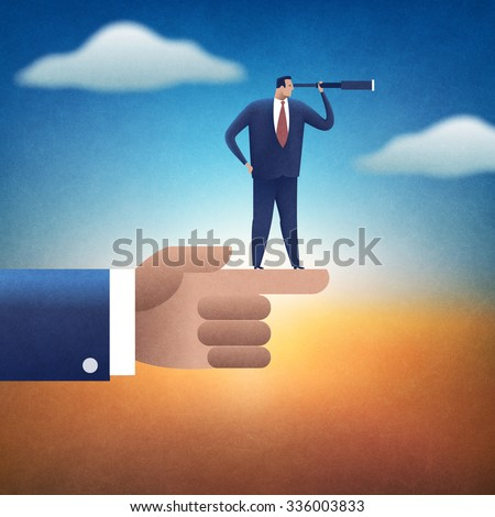 Direction. Concept business illustration. - stock photo