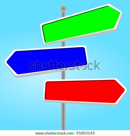 direction sign - stock photo