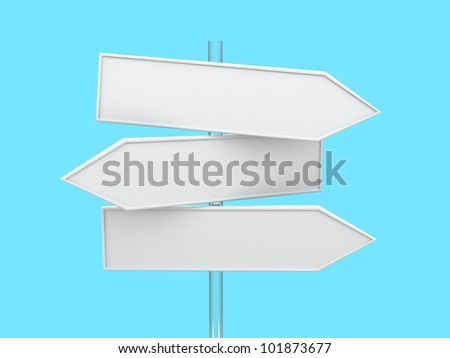 Direction Signs- 3d render - stock photo