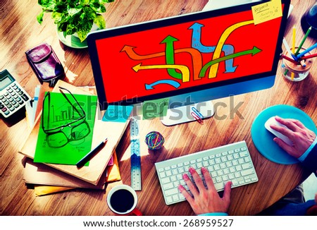 Directions Choice Change Change Decision Making Concept - stock photo