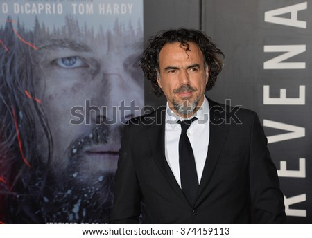"Director Alejandro G. Iarritu at the Los Angeles premiere of his movie ""The Revenant"" at the TCL Chinese Theatre, Hollywood.  December 16, 2015  Los Angeles, CA Picture: Paul Smith / Featureflash - stock photo"