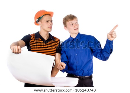 Director and working isolated on white background - stock photo