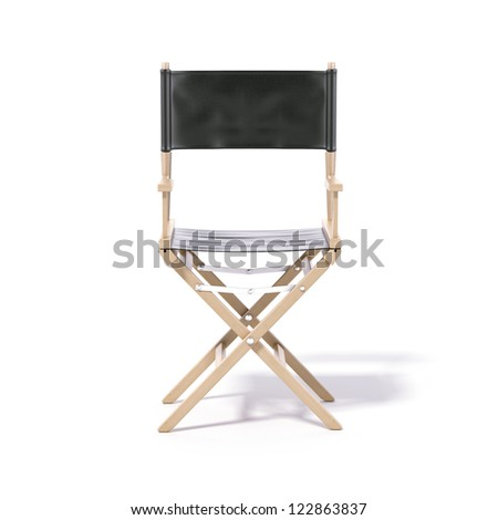Director's chair isolated on a white background - stock photo