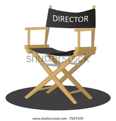 Director's chair over white background - stock photo
