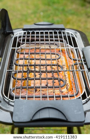 dirt after grilling - stock photo