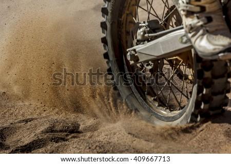 Dirt Bike speeding - stock photo