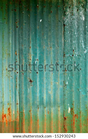 dirty and Rusted  galvanized iron roof ,large tin background  - stock photo