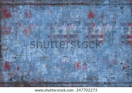 Dirty and Weathered Metal Texture (Part of Grungy Textures set, which includes textures that can be used together to create a huge image) - stock photo