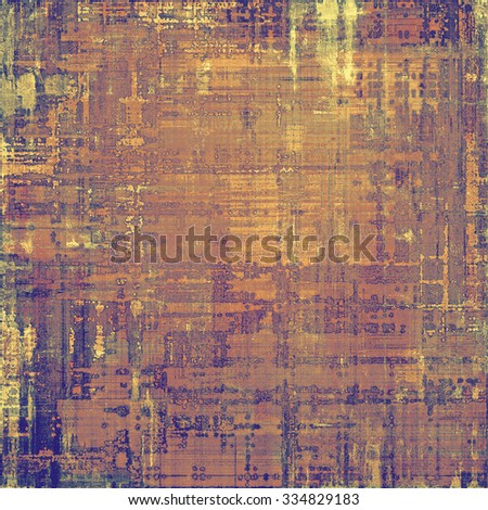 Dirty and weathered old textured background. With different color patterns: yellow (beige); brown; gray; purple (violet) - stock photo