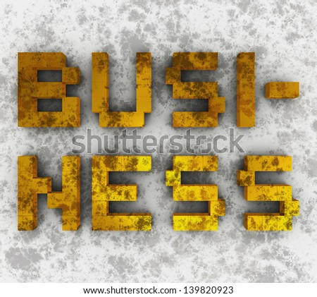 dirty business - stock photo
