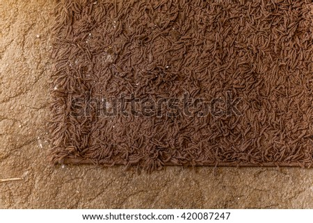 Dirty carpet  - stock photo