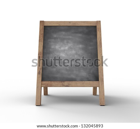 dirty chalkboard on white background - stock photo