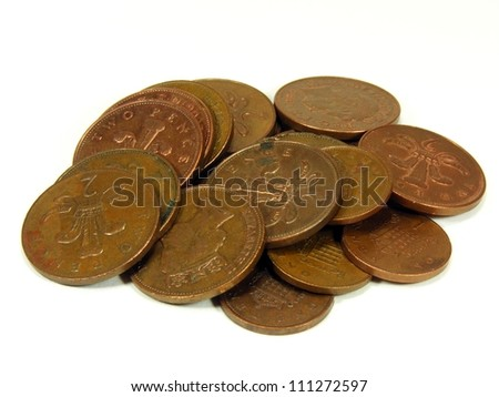 Dirty Coins - stock photo