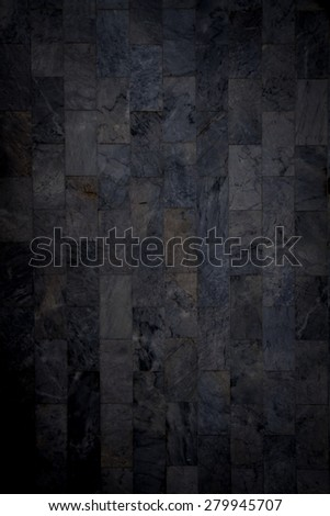 dirty dark marble wall tile texture background - stock photo