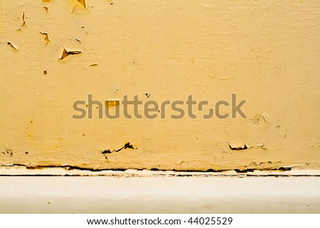 Dirty exfoliated wall - stock photo