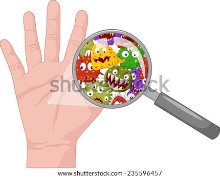 Dirty hand - stock photo