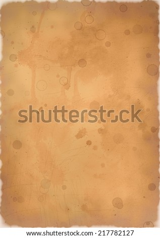 Dirty paper with burned edges - stock photo