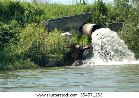 Dirty sewage - stock photo