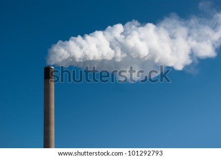 Dirty smoke on the sky - stock photo