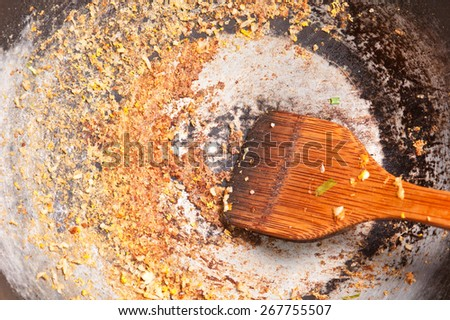 Dirty Stain on the pan - stock photo