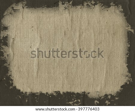 Dirty stained linen striped textured canvas burlap background - stock photo
