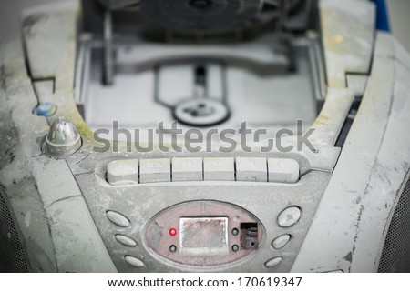 Dirty stereo full of dust. - stock photo