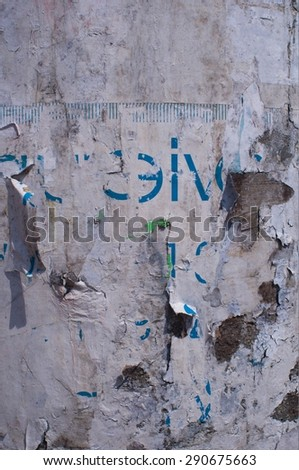 dirty weathered wall  - stock photo