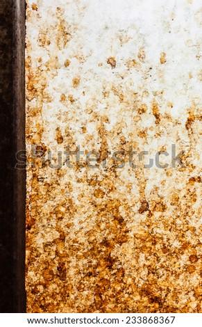 Dirty window glass - stock photo