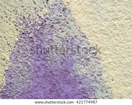 Dirty yellow concrete wall texture background - stock photo