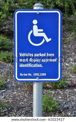 Disable parking sign - stock photo
