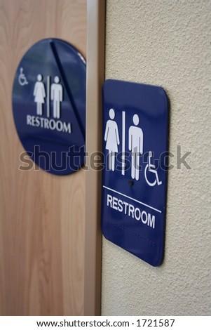 disabled bathroom - stock photo