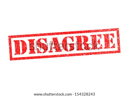DISAGREE Rubber Stamp over a white background. - stock photo