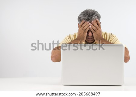 Disappointed Man - stock photo
