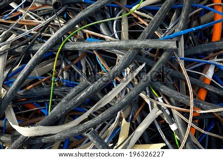Discarded cables - stock photo