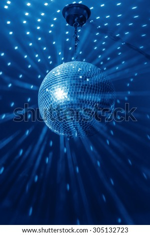 disco ball background close up - stock photo