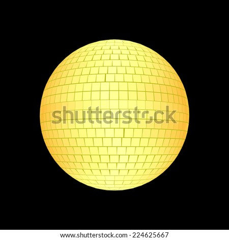 Disco ball isolated on black - stock photo
